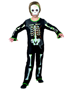 Child Scary Spider Skeleton Costume