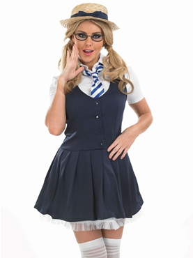 Adult School Girl Tutu Costume Thumbnail