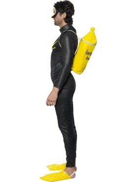 Adult Scuba Muff Diver Costume - Back View