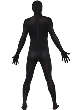 Adult Black Second Skin Suit Costume - Side View