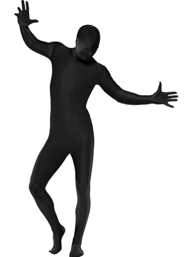 Adult Black Second Skin Suit Costume