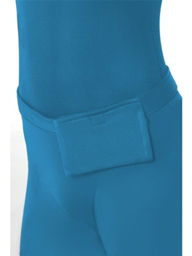 Adult Blue Second Skin Suit Costume - Side View