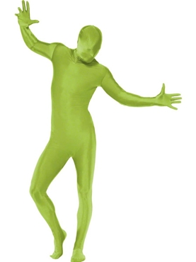 Adult Green Second Skin Suit Costume