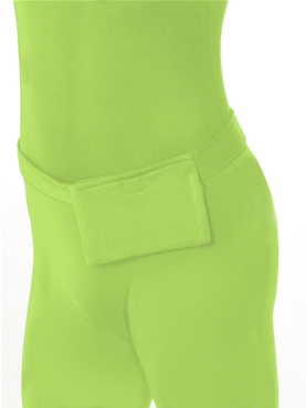 Adult Green Second Skin Suit Costume - Side View