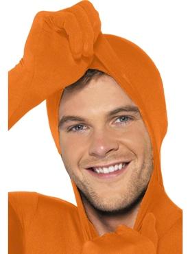 Adult Orange Second Skin Suit Costume - Back View