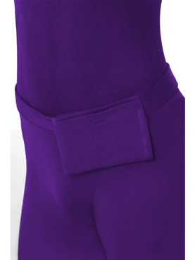 Adult Purple Second Skin Suit Costume - Side View