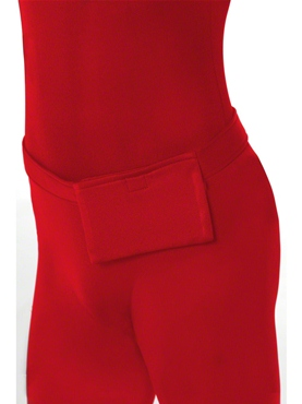 Adult Red Second Skin Suit Costume - Side View