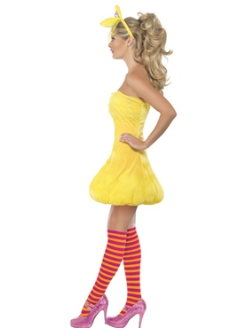 Sesame Street Big Bird Ladies Costume - Side View