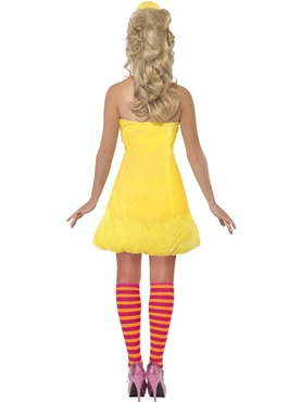 Sesame Street Big Bird Ladies Costume - Back View