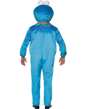 Adult Sesame Street Cookie Monster Costume - Back View
