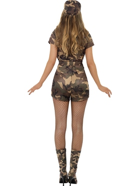Adult Sexy Army Girl Costume - Side View