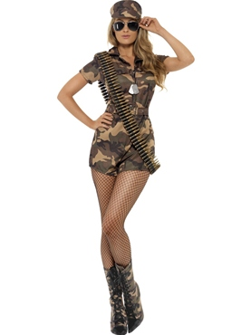Adult Sexy Army Girl Costume