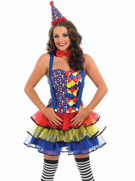 Adult Sexy Clown Costume - Back View