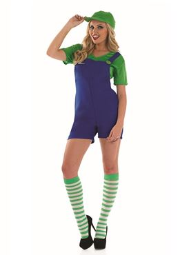Adult Sexy Green Plumbers Mate Costume Thumbnail