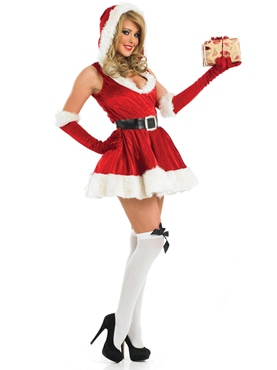 Adult Sexy Lady Santa Costume - Back View