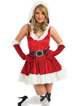 Adult Sexy Lady Santa Costume Thumbnail
