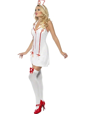 Adult Sexy Nurses Costume - Side View