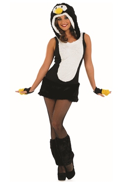 Adult Sexy Penguin Costume - Back View