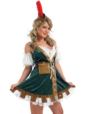 Adult Sexy Robin Hood Costume - Back View