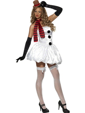 Adult Sexy Snowman Costume Thumbnail