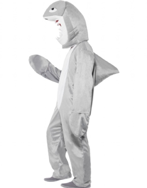 Adult Shark Costume - Back View