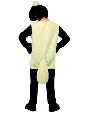 Adult Shaun the Sheep Costume - Back View