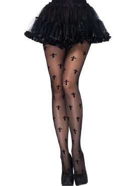Adult Sheer Cross Tights