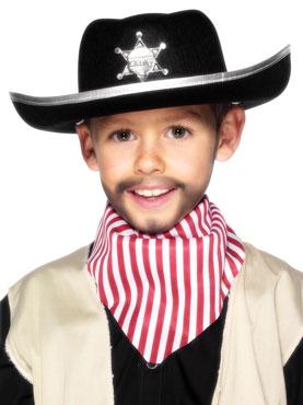 Sheriffs Childrens Hat Black Felt