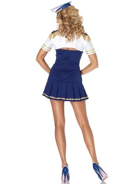 Adult Ship Shape Captain Sailor Costume - Back View
