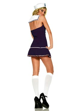 Adult Shipmate Cutie Blue Sailor Costume - Back View