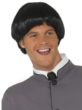 Short Bowl 60's Style Wig Black