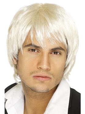 Short Style Boy Band Wig Blonde