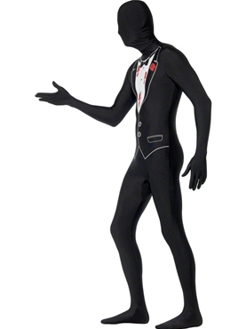 Adult Shot Gangster Second Skin Costume - Side View