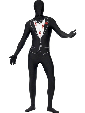 Adult Shot Gangster Second Skin Costume