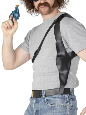 Shoulder Holster Black Leather Look