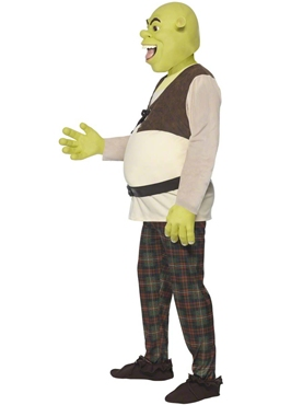 Adult Shrek Costume - Back View