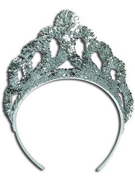 Silver Sequin Tiara