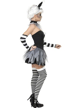 Adult Sinister Pierrot Costume - Side View