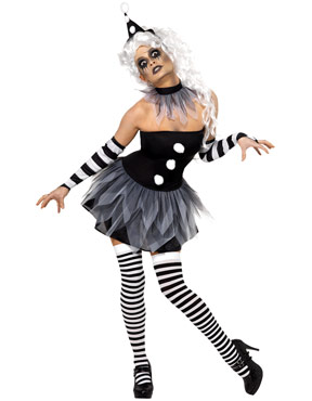 Adult Sinister Pierrot Costume Thumbnail