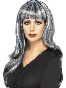 Adult Grey Sinister Siren Wig