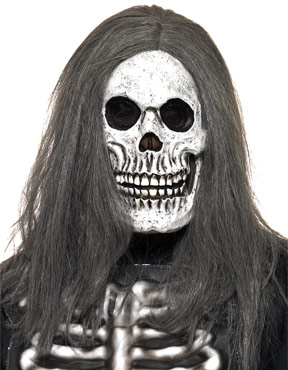 Sinister Skeleton Mask with Hair
