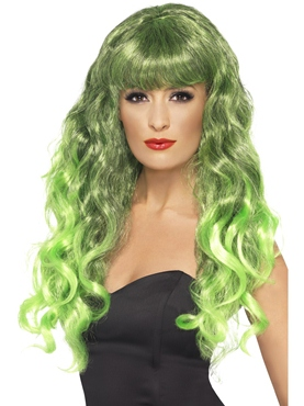Siren Wig Green & Black