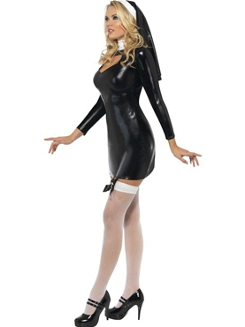 Adult Sister Bliss Nun Costume - Side View