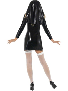 Adult Sister Bliss Nun Costume - Back View