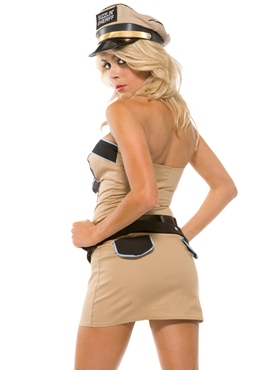 Adult Sizzlin' Sheriff Costume - Back View
