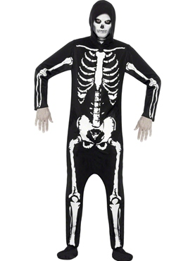 Adult Skeleton Onesie Costume