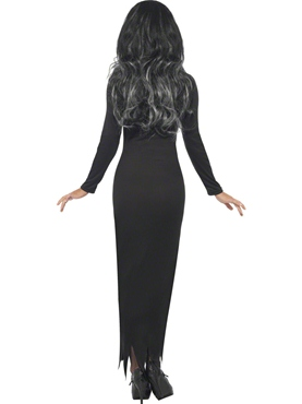 Adult Skeleton Tube Dress Costume - Side View