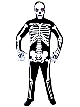 Skeleton Jumpsuit Costume Couples Costume