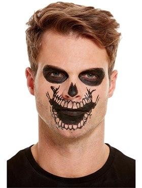 Skeleton Mouth Face Transfer Makeup Kit - Side View