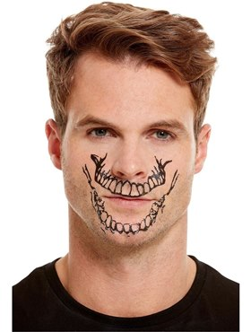 Skeleton Mouth Face Transfer Makeup Kit - Back View